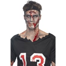 Smiffy's Make Your Own Scar Kit With Tray/liquid Rubber And Applicator - -  scar make Rubber  kit smiffys your own prosthetic halloween blood fancy