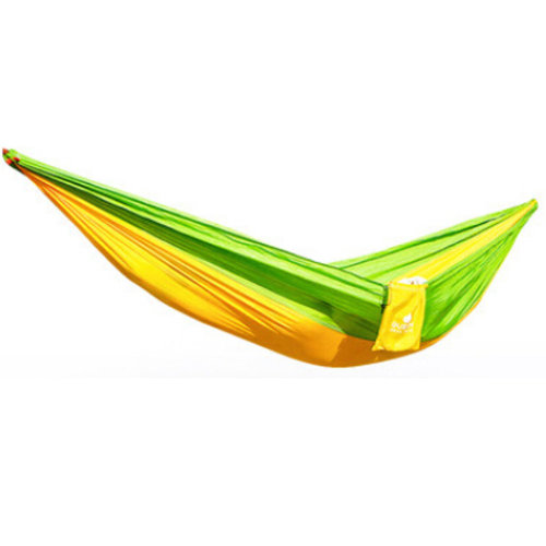 Multifunctional Camping Hammock Hanging Bed Double Size[2.6*1.3m] Green/Yellow