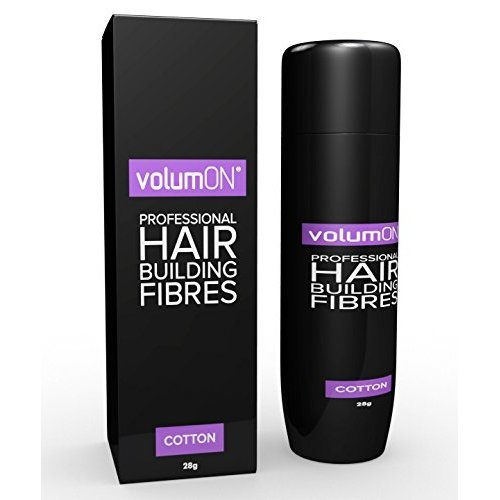 Volumon Hair Building Fibres- Hair Loss Concealer- COTTON- 28g (Black)