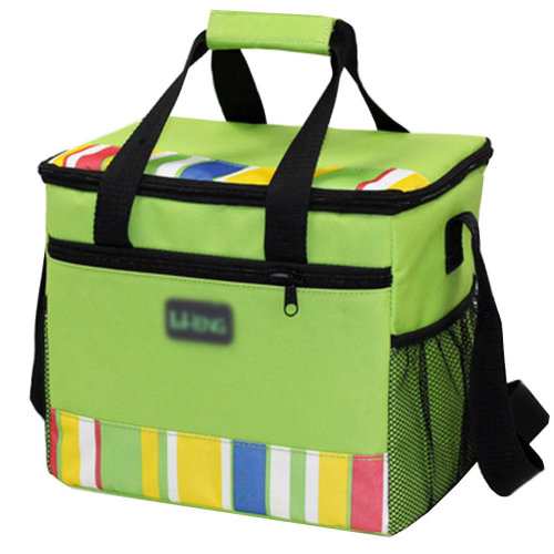 Outdoor Picnic Bag Large Soft Cooler Insulated Picnic Lunch  Bag for Grocery, Camping, Car, #E