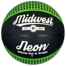 Size 6 Black Green Midwest Neon Basketball -  midwest neon basketball green black size 6 3 5 7 blackgreen training