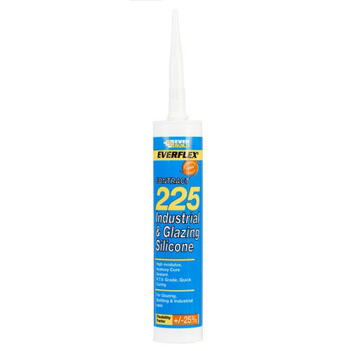 Everbuild 225 Industrial And Glazing Silicone Steel C3 Tube