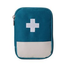 Portable First AID Pouch Pill Bags Medicine Storage Container Pill Case Blue