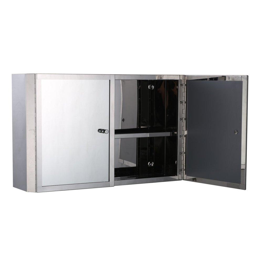 Homcom Stainless Steel Mirror Cabinet Bathroom Cupboard