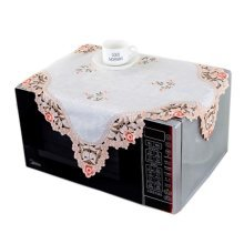 European Style Embroidered Microwave Oven Cover Microwave Protector, D