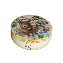 Round Cute Pill Boxes Candy Metal Case Storage Box, Deer