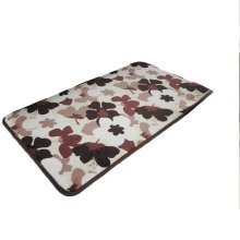 Absorbent Machine Washable Coral Non-slip Doormats,Brown Peach Blossom,40*60CM