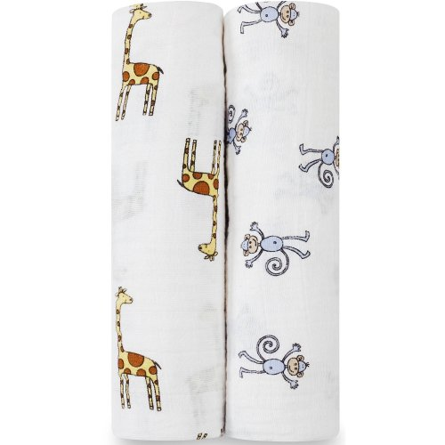 Aden + Anais Classic Swaddles 2 Pack - Jungle Jam