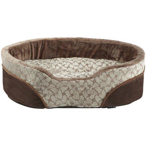 (X-Large, Cream) Bunty Mocha Dog Bed | Soft Washable Pet Bed