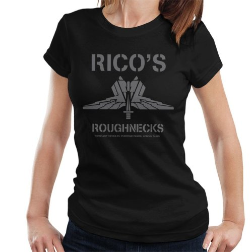 Starship Troopers Ricos Roughnecks Grey Logo Women's T-Shirt