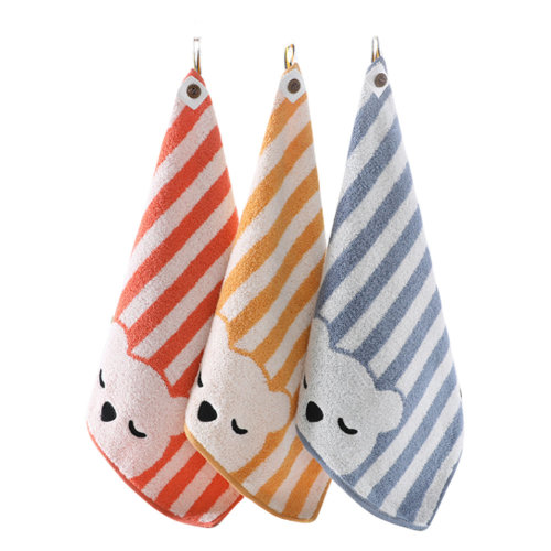 Soft Absorbent Cotton Towels Square Towels for Baby 3 Packs  #3