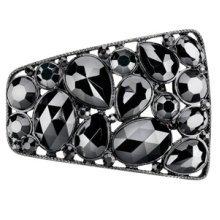 Black Shoe Clips Stones Shoe Decoration - Woly Shoe Clips Black Stones Customise Embellish Decorate Shoes Design Your Own
