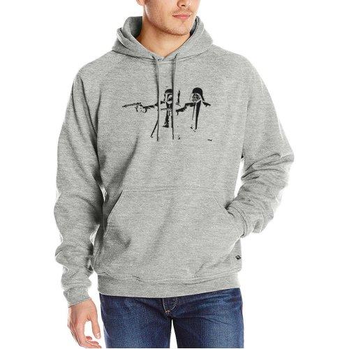 2017 fashion Banksy  Pulp Fiction hoodies men autumn winter fleece sweatshirt harajuku hip-hop tracksuits homme hoody pp