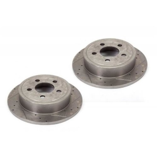 Alloy USA 11351 Disc Brake Rotors 2, Drilled and Slotted, 00-06 TJ And 00-01 XJ