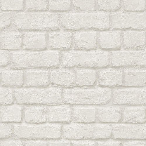 NEW RASCH BRICK STONE WALL REALISTIC FAUX EFFECT TEXTURED PHOTO MURAL WALLPAPER[WHITE 226706]