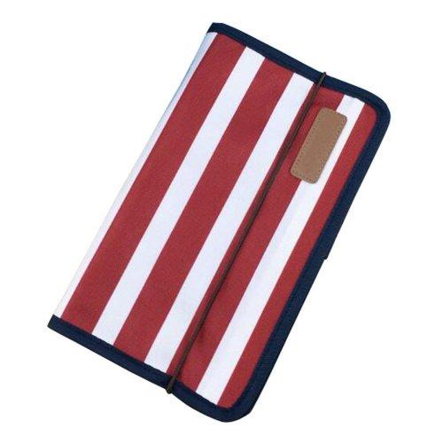 A5 Multilayer File Pocket Student Files Organizer Portable Briefcase-Stripe