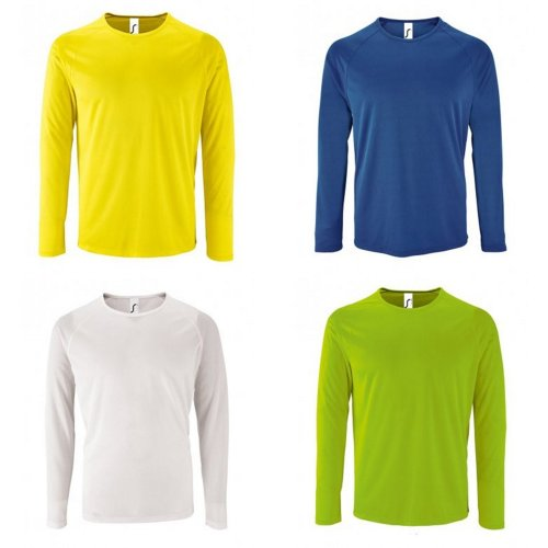 SOLS Mens Sporty Long Sleeve Performance T-Shirt