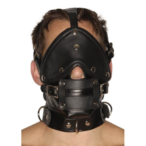 Strict Leather Premium Muzzle with Blindfold and Gags  BDSM Masks - Strict Leather