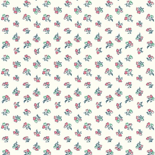 Fat Quarter Liberty Tea For Two Heart Bouquet Cotton Quilting Sewing Fabric