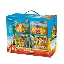 Kng05137 - King Puzzles - Disney 4in1 - (12,16,20,24 Pcs) - Lion King