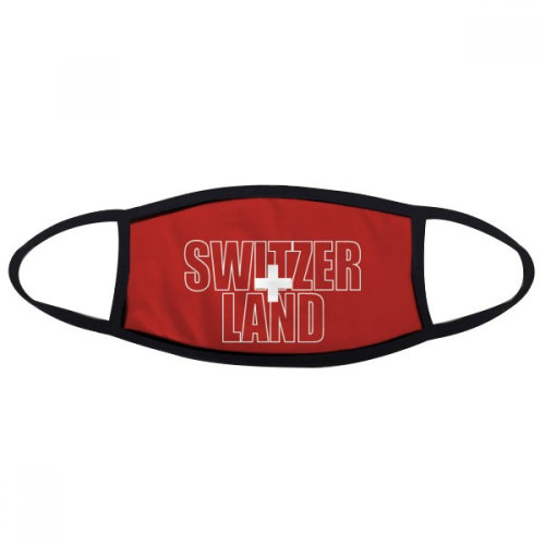 Switzerland Country Flag Name Mouth Face Anti-dust Mask Anti Cold Warm Washable Cotton Gift