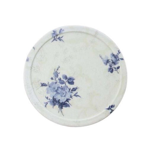 10 Pieces Of Fashion Blue Flowers Pattern Waterproof Insulation Pad/Coaster