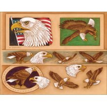 Eagle Belt & Buckle Billfold Leather Pattern Template -  eagle belt buckle billfold leather pattern template craftaid designs