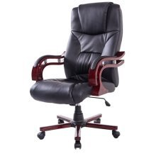 Homcom High Back Office Swivel Pu Leather Desk Chair Computer Height Adjustable