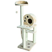 Trixie Salamanca Scratching Cat Tree Post, 8 x 138 Cm, Beige - New -  trixie scratching tree salamanca beige new