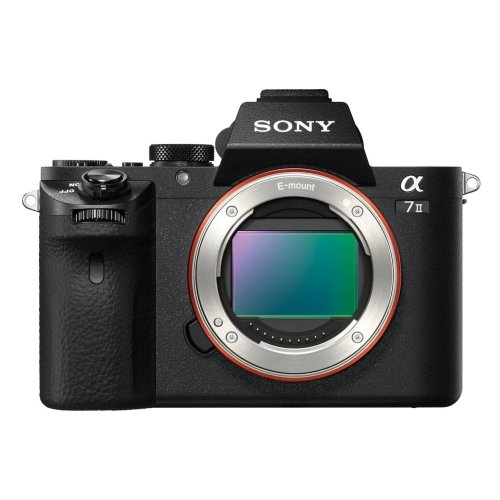 Sony ILCE7M2B Full Frame Compact System Camera Body (5-Axis Image Stabilisation, XAVC S Format Recording, 24.3 MP, Fast Hybrid AutoFocus) - Black