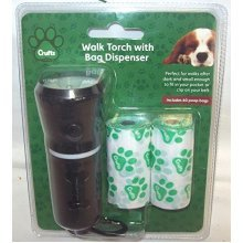 Crufts 2 In 1 Pet Dog Walking Hand Torch With Poo Bag Dispenser Handle 60 Bags -  crufts dog walking torch bag dispenser 2 1 pet hand poo handle 40