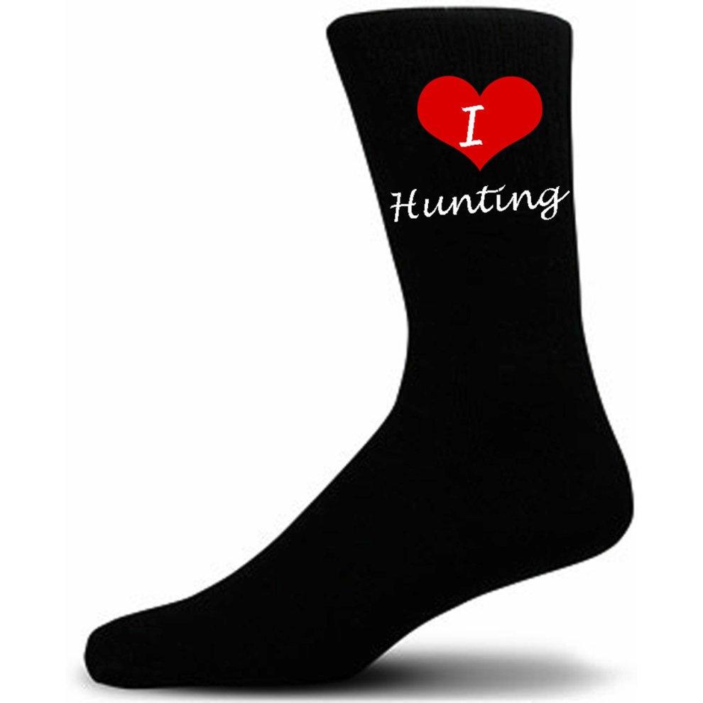 I Love Hunting Socks Black Cotton Socks.