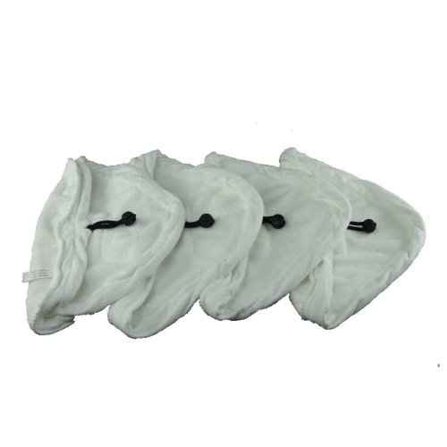 Steam Mop Microfibre Cleaning Cloth Cover Pads Kit For Triangular Head Steam Mops x 4
