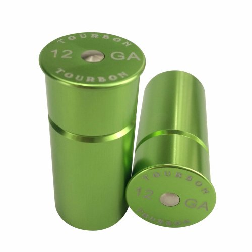 Tourbon Shotgun 12 Gauge Aluminium Snap Cap (Pack of 2 pieces) - Green