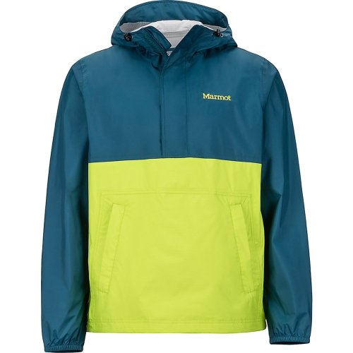 Marmot Mens PreCip Anorak Jacket Denim/Macaw Green (Large)