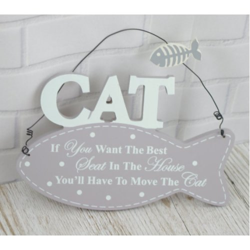 Plaque If You Want The Best Seat in The House Move The Cat Fish Shaped