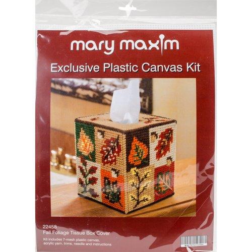 "Mary Maxim Plastic Canvas Tissue Box Kit 5""-Fall Foliage (7 Count)"