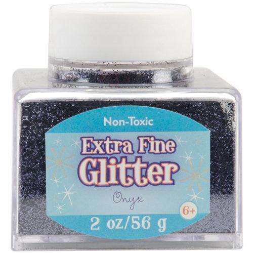 Extra Fine Glitter 2oz-Onyx