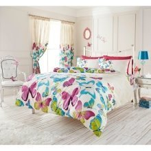 Fashion Butterfly multi cotton blend duvet cover