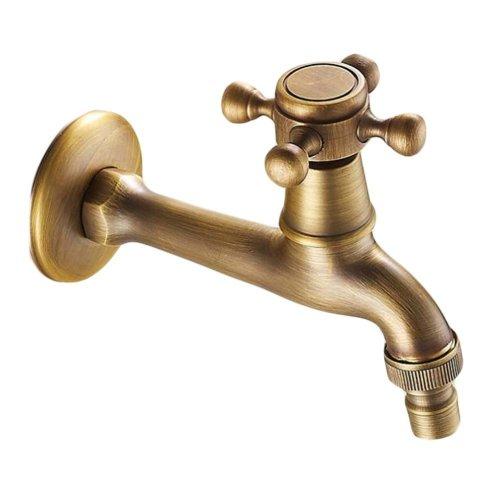 Lengthen Antique Kitchen Faucet Brass Washing Machine Faucet Single Water Nozzle