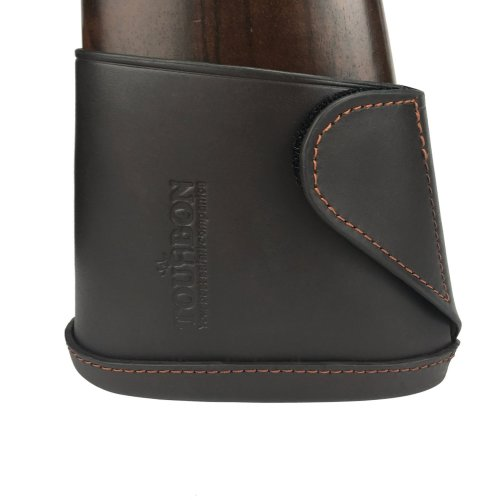 Tourbon Genuine Leather Shotgun Stock Extension Slip on Recoil Pad Sleeve - Dark Brown