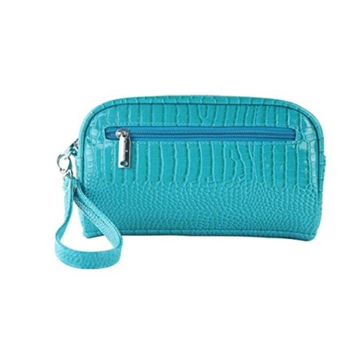Margarita-Insulated Cosmetics Bags with Removable Wristlet, Blue Turquoise