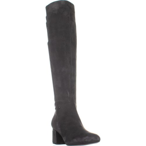 DKNY Cora Knee High Boots, Dark Gray Suede, 3 UK