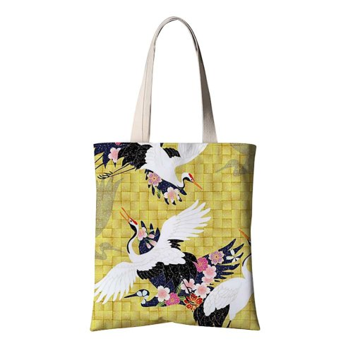 Cotton Canvas Tote Bag, Reusable Grocery Bags Canvas Shopping Bags, A-18
