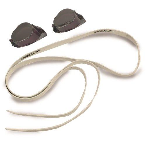 Speedo Unisex Adult Swedish Mirror Kitbox Goggles, Black/Silver