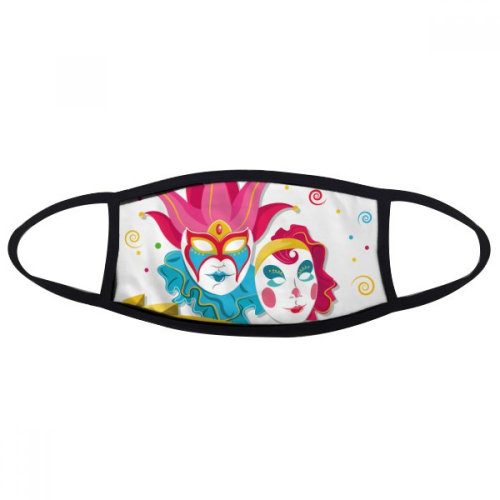 Double Mask Happy Carnival Of Venice Mouth Face Anti-dust Mask Anti Cold Warm Washable Cotton Gift