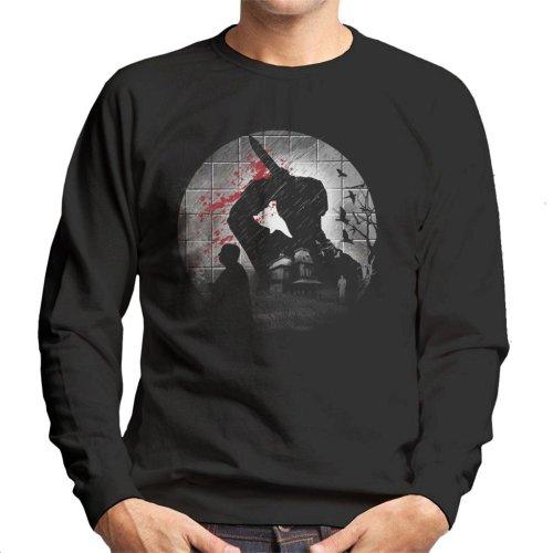 Psycho Silhouette Alfred Hitchcock Men's Sweatshirt