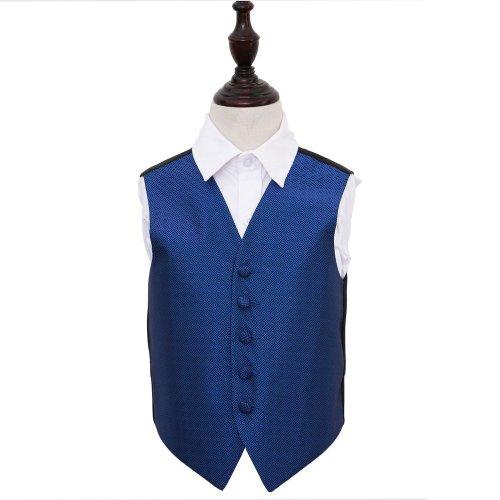 Royal Blue Greek Key Wedding Waistcoat for Boys 30'