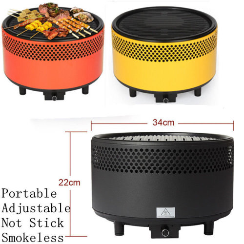 Grill BBQ Charcoal Smokeless Outdoor Camp Camping Barbecue Oven Smoker