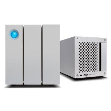LaCie 2 Big 8 TB (2 x 4 TB) Dual Thunderbolt 2 Plus USB 3.0 Professional Dual-Disk, 7200 RPM Desktop RAID Storage for PC and Mac - Silver